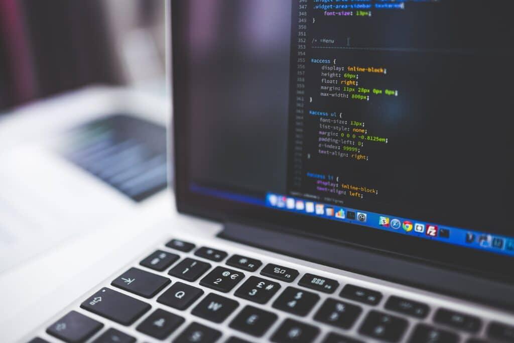 Python code on a laptop screen